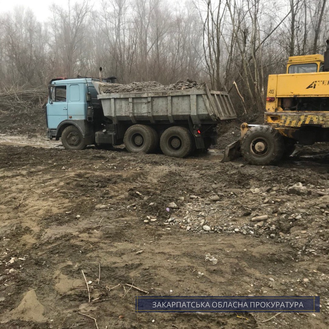 Добыча песко-гравийной смеси нанесла ущерб государству почти на 270 тысяч тонн. Грн.