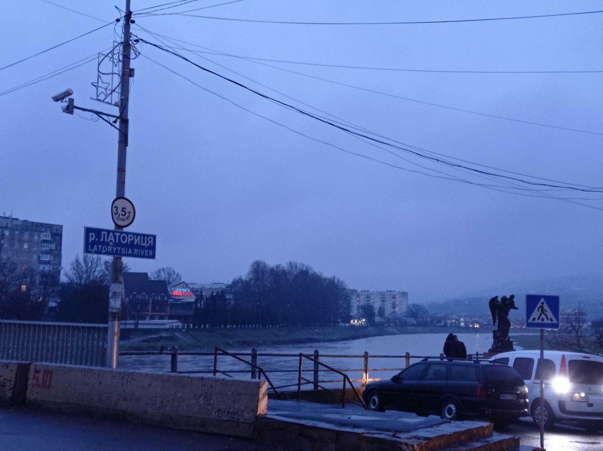 Ситуація на річці Латориця в межах Мукачева станом на 18:00 годину 25 січня 2021 року.