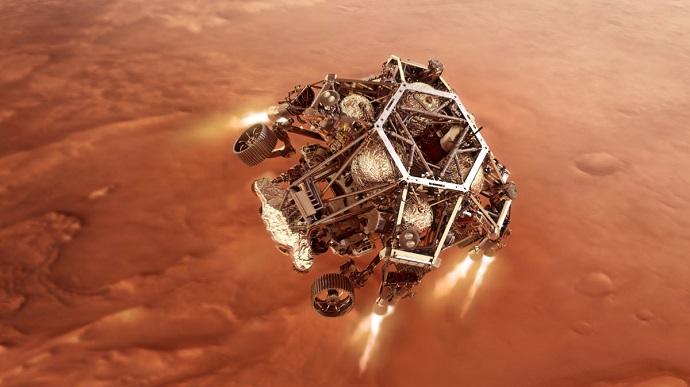 Марсохід американського космічного агентства NASA Perseverance (Наполегливість), який 18 лютого здійснив вдалу посадку в північній півкулі Марса, надіслав на Землю своє перше відео.