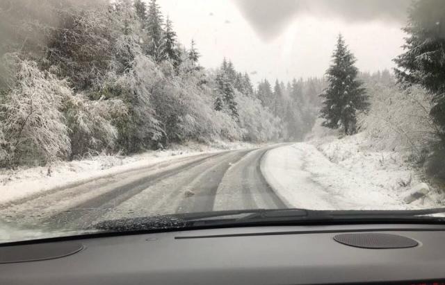 На Закарпатті оголосили штормове попередження через сніг та хуртовини