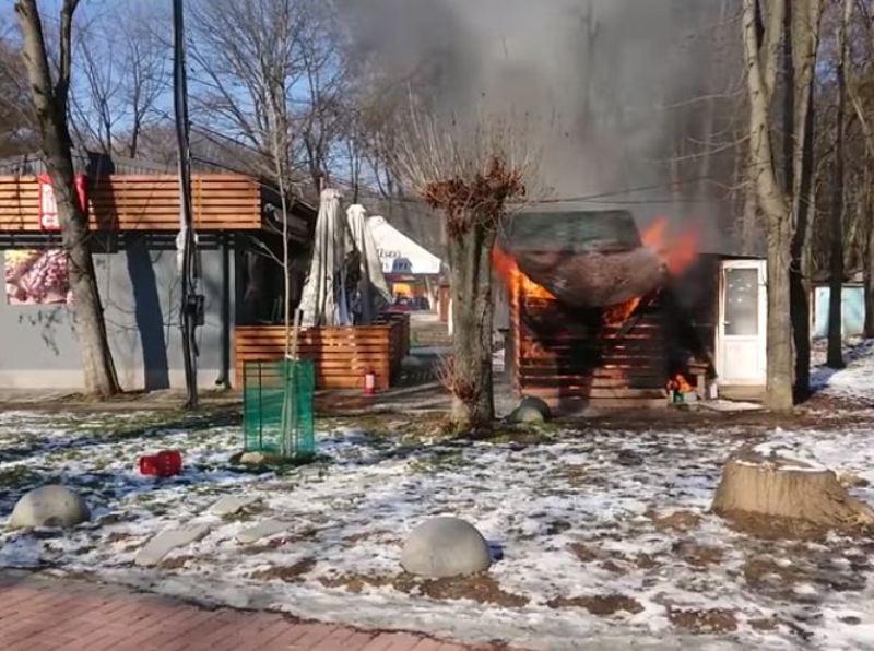 Пожежа, яка сталась напередодні у Боздоському парку в Ужгороді, наробила багато галасу.