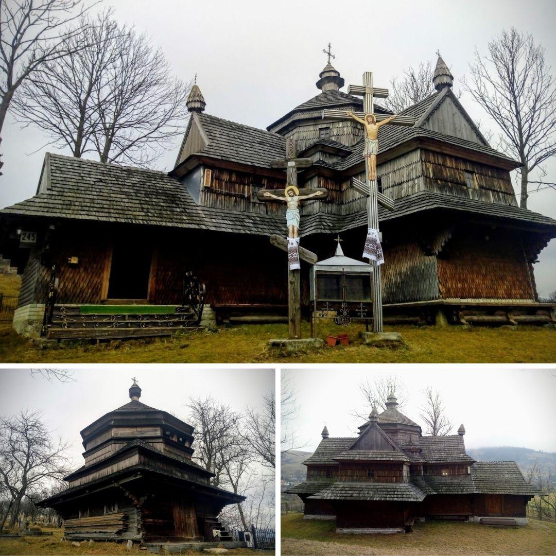 Старовинний храм знаходиться в селищі Ясіня, Рахівського району.