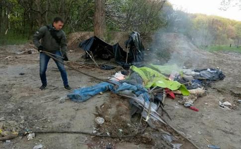 Поліція Києва: Роми на Лисій горі рубали дерева і розводили бруд