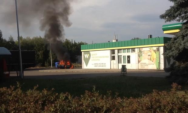 На заправці в Ужгороді згоріли