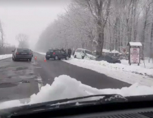 """На трасі """"Мукачево-Берегово"""" сталася ДТП за участі """"Hyundai"""" (ВІДЕО)"""