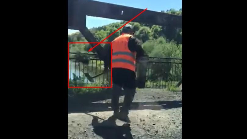 Ноу-хау дорожників по прибиранню асфальтних відходів зафіксували на Тячівщині.