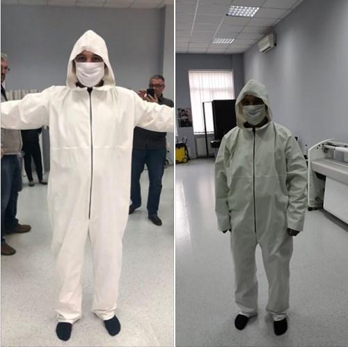 """Виноградівська швейна фабрика """"Гроно"""" почала випуск захисних костюмів."""