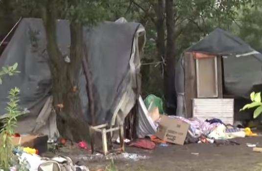 Закарпатські роми, після смертельного нападу на табір, облаштували наметове містечко у лісосмузі поблизу Львова (ВІДЕО)