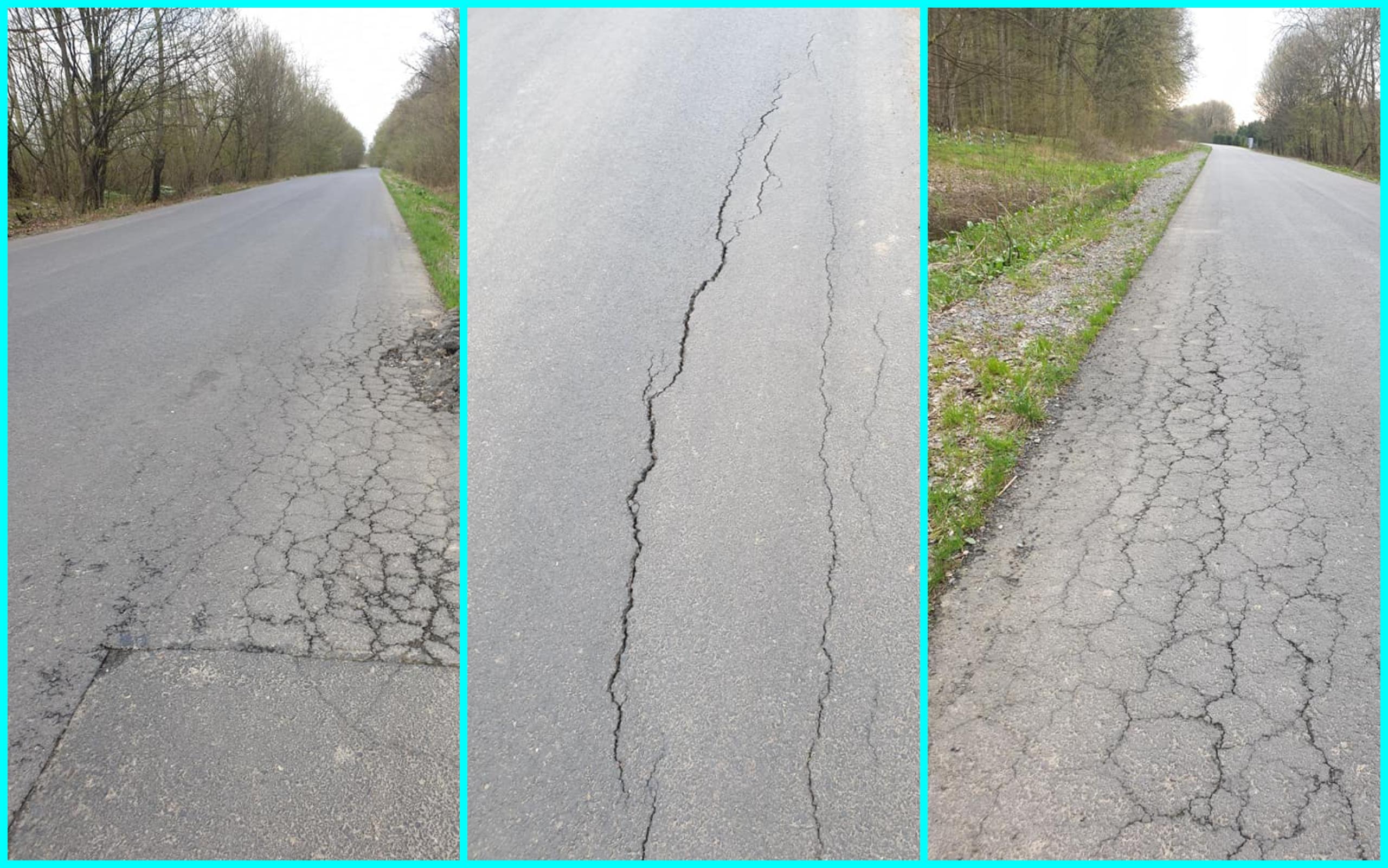 Дорога, яку робили у липні минулого року та яка мала прослужити роки, уже навесні почала руйнуватися.