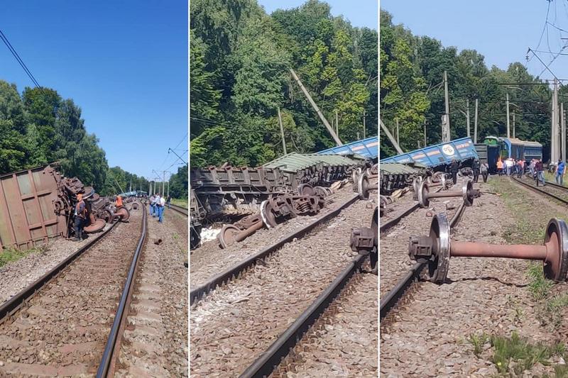 """""""Укрзалізниця"""" попередила про затримку в русі низки поїздів. Це пов'язано зі сходом із рейок вантажних вагонів у Львівській області."""