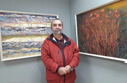 У виноградівській картинній галереї ІМПАСТО відкрилася виставка живопису художника з Берегово Анатолія Сакалоша (ФОТО)