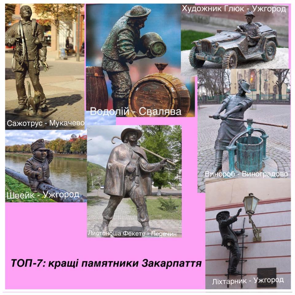 ТОП-7 пам'ятників Закарпаття від Федора Шандора