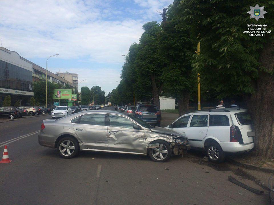 Вчора в Ужгороді сталися чотири ДТП