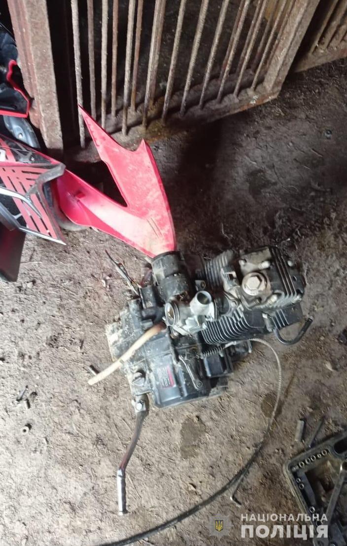 Працівники сектору кримінальної поліції Рахова, спільно з поліцейськими охорони, оперативно розкрили злочин, що стосується незаконного заволодіння мотоциклом.