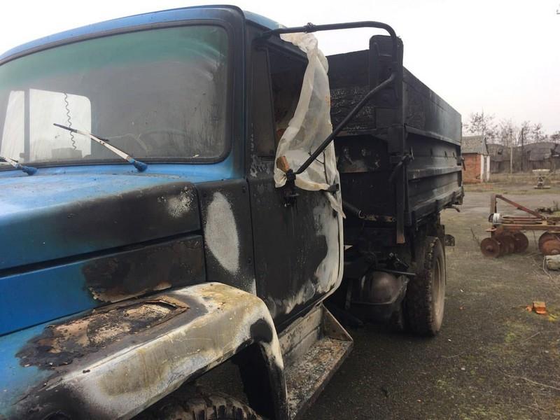 На Мукачівщині загорівся вантажний автомобіль