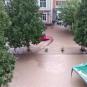 """Рахів """"поплив"""": центр міста опинився під водою через зливу (ФОТО)"""