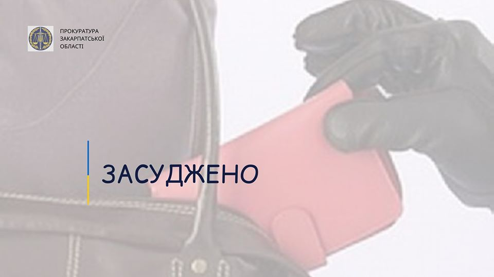 Прокурором Берегівської місцевої прокуратури доведено вину 39-річного ужгородця, який вкрав від неповнолітньої дівчини гаманець з готівкою та документи.