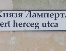 Є в Берегово така вуличка — вулиця князя Ламперта