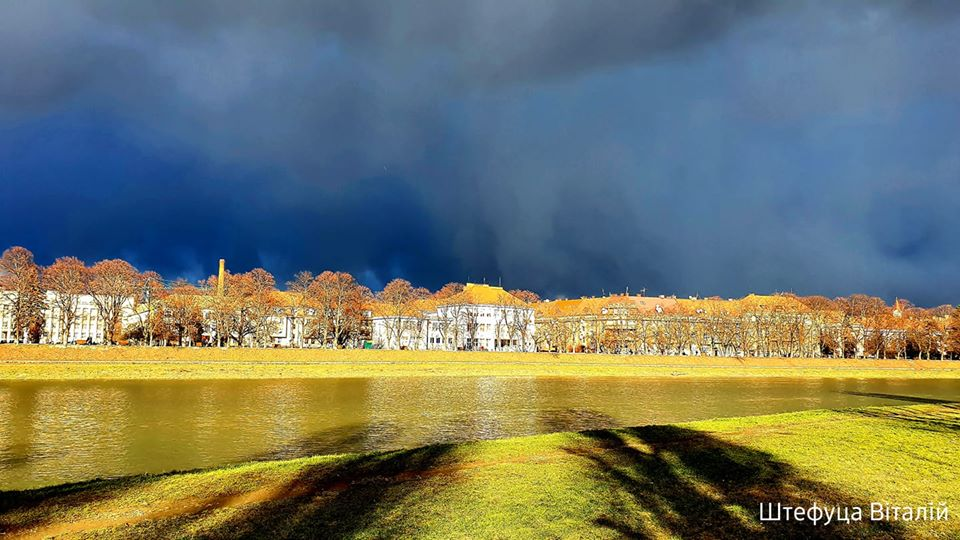 Сьогодні в Ужгороді спостерігали дивні зміни погодніх умов.