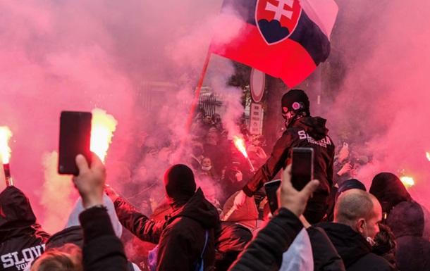 Поліція в столиці Словаччини застосувала сльозогінний газ для розгону акції протесту.