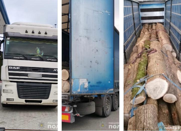 Співробітники Тячівського районного відділу поліції затримали та помістили на арештмайданчик автомобіль з деревиною невідомого походження.