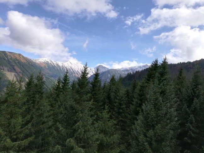 Перший сніг вранці четверга з`явився на схилах західних Татр.