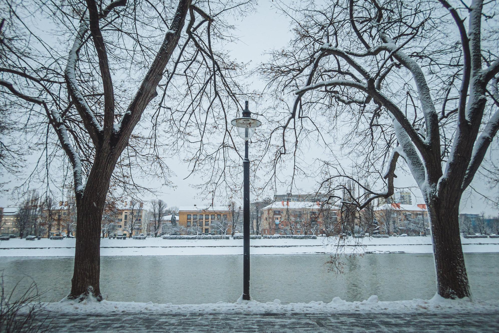 Сьогодні вночі та вранці в обласному центрі сніжило.