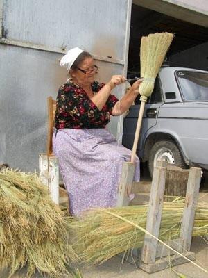Село Велика Добронь вважають столицею ароматної спеції – паприки, та насправді не тільки перець росте у місцевих на городі. Сорго, рослину, з якої згодом в'яжуть віники, тут також шанують.
