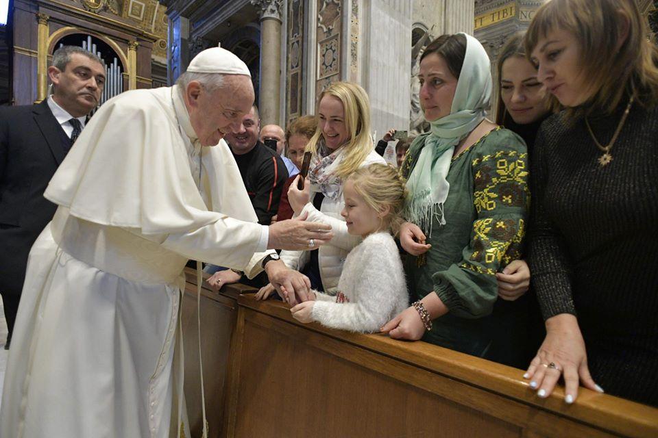 Зустріч Мілана Шашіка і паломників з Папою відбулася в середу, 11 грудня.