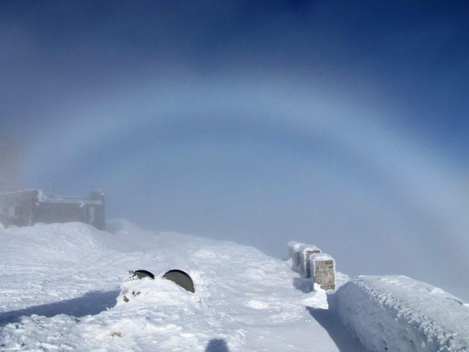 Брокенська примара - так називають атмосферне оптичне явище.