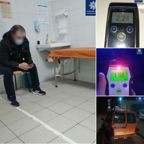 Ужгородські патрульні продовжують виявляти водіїв у стані алкогольного сп'яніння.