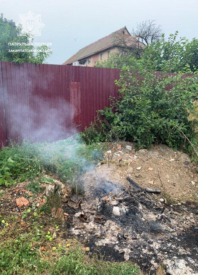 Випадок зі спалюванням сміття трапився сьогодні, близько 14-ї години, на вулиці Тельмана в Ужгороді.
