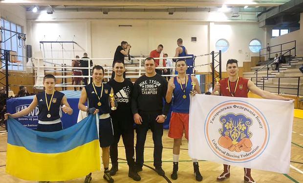 4 золоті медалі здобули спортсмени Ужгородської федерації боксу на міжнародному турнірі II Slovenskey Ligy boxu 2020, який завершився 1 лютого в м. Кошице.