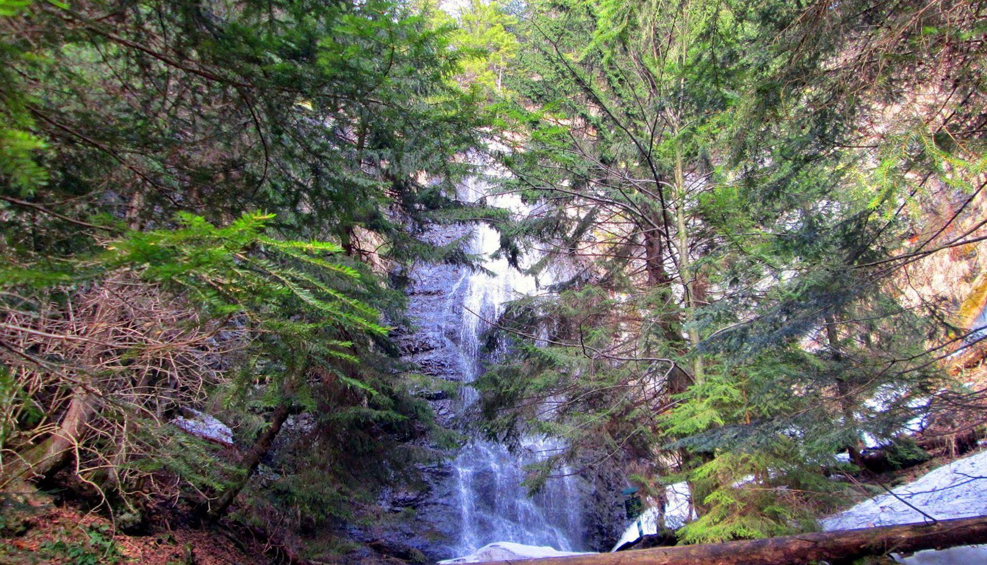 Чудо природы - Ялинский водопад в Раховском районе.