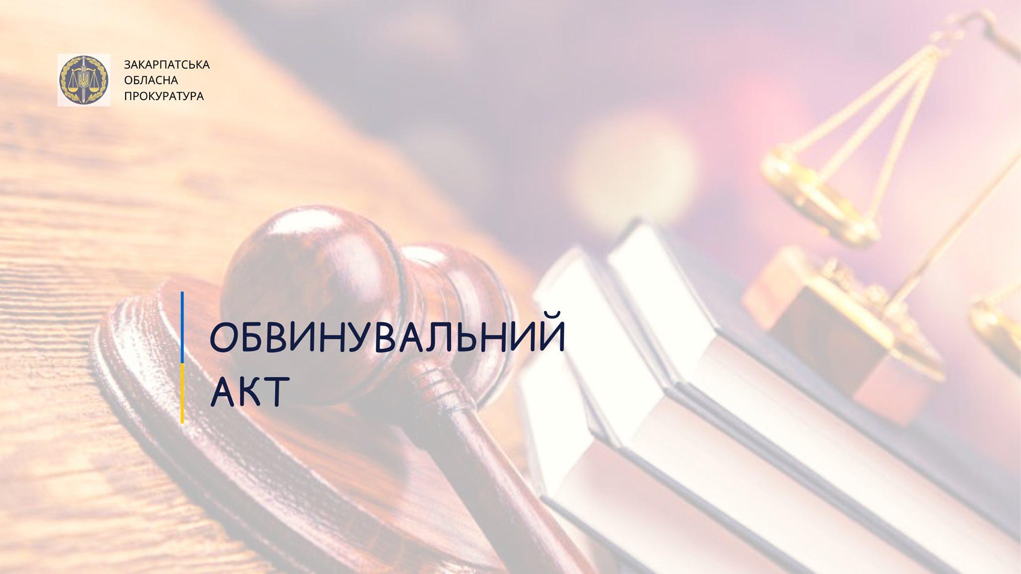 Обвинувальний акт скеровано до Берегівського районного суду для розгляду по суті.