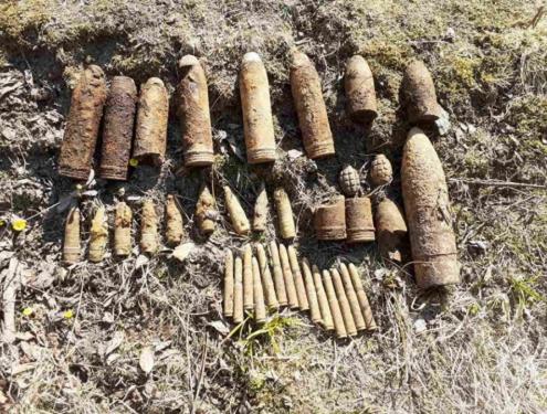 Надзвичайники вилучили та 34 артилерійські снаряди різного калібру та 2 гранати Ф-1 часів Другої світової війни.