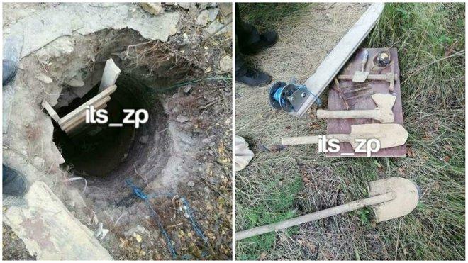 Тунель на три метри завглибшки та на десять метрів завдовшки викопала жінка власноруч у Вільнянську Запорізької області. А все для того, щоб її син – засуджений за вбивство – втік із в'язниці.