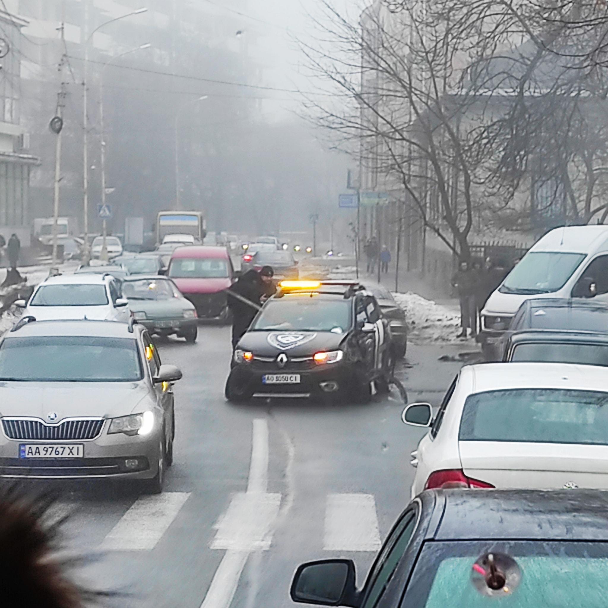 Аварія сталася сьогодні на вулиці Собранецькій.