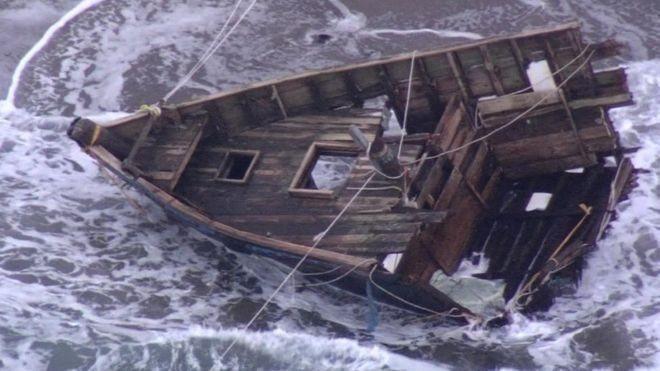 П'ять людських тіл і дві голови знайшли на невеликому судні, яке винесло хвилями до берегів Японії. Імовірно, це північнокорейські рибалки або біженці.