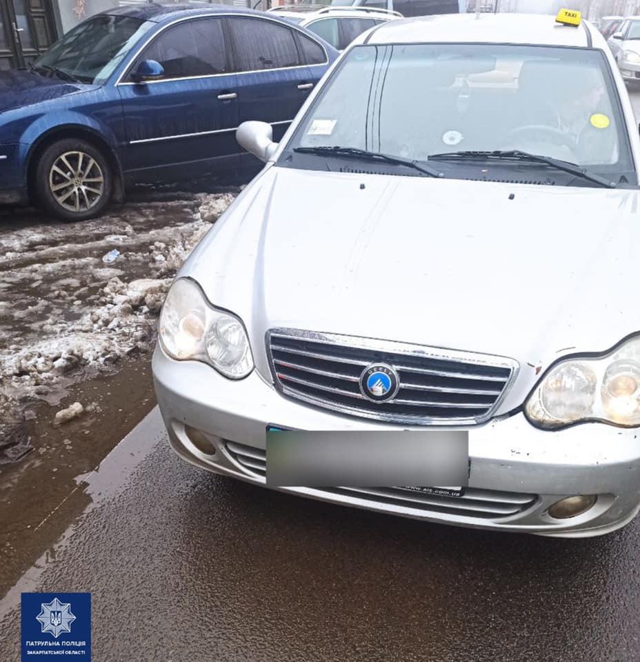 Ужгородські патрульні знайшли та притягнули до відповідальності водія, який порушив ПДР
