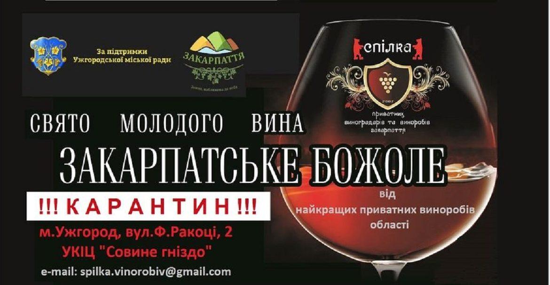 Закарпатське Божоле-2020 скасували і це вперше за 14-ть років існування фестивалю.
