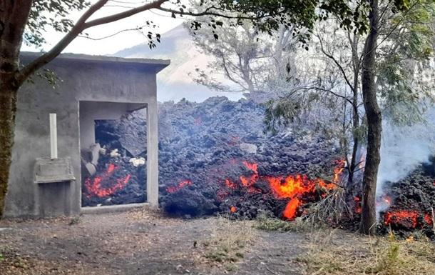 Потік лави з активного вулкана Пакая досяг кавових плантацій і поглинув житловий будинок недалеко від села Ель Патросініо.