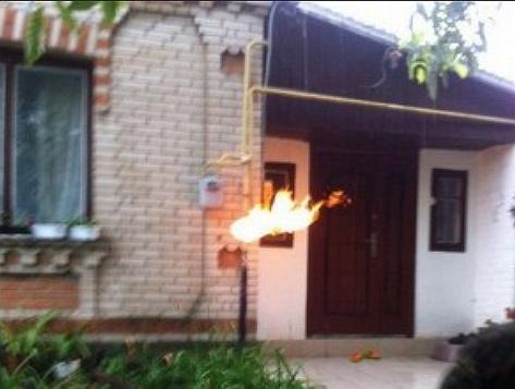 У суботу, 11 травня, у селі Холмок було зафіксовано загорання газового стояка на вулиці Центральній.