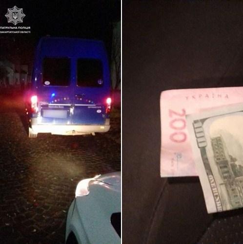 12 лютого, близько 22-ї години, на вулиці Карпенка–Карого в Мукачеві патрульні зупинили транспортний засіб Mercedes Sprinter за порушення правил дорожнього руху.