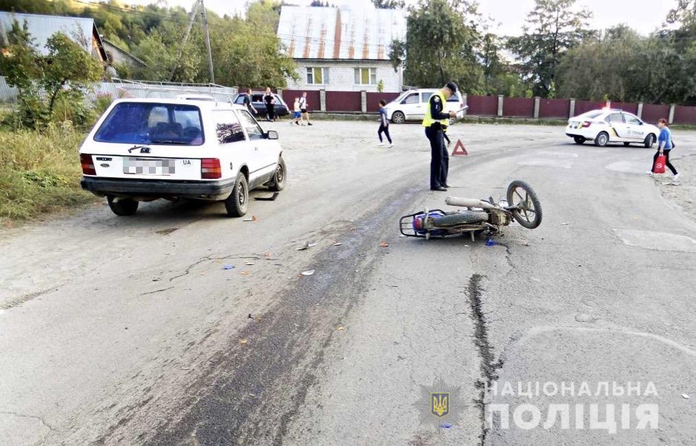 ДТП за участі п'яного мотоцикліста сталася вчора в Міжгір'ї.