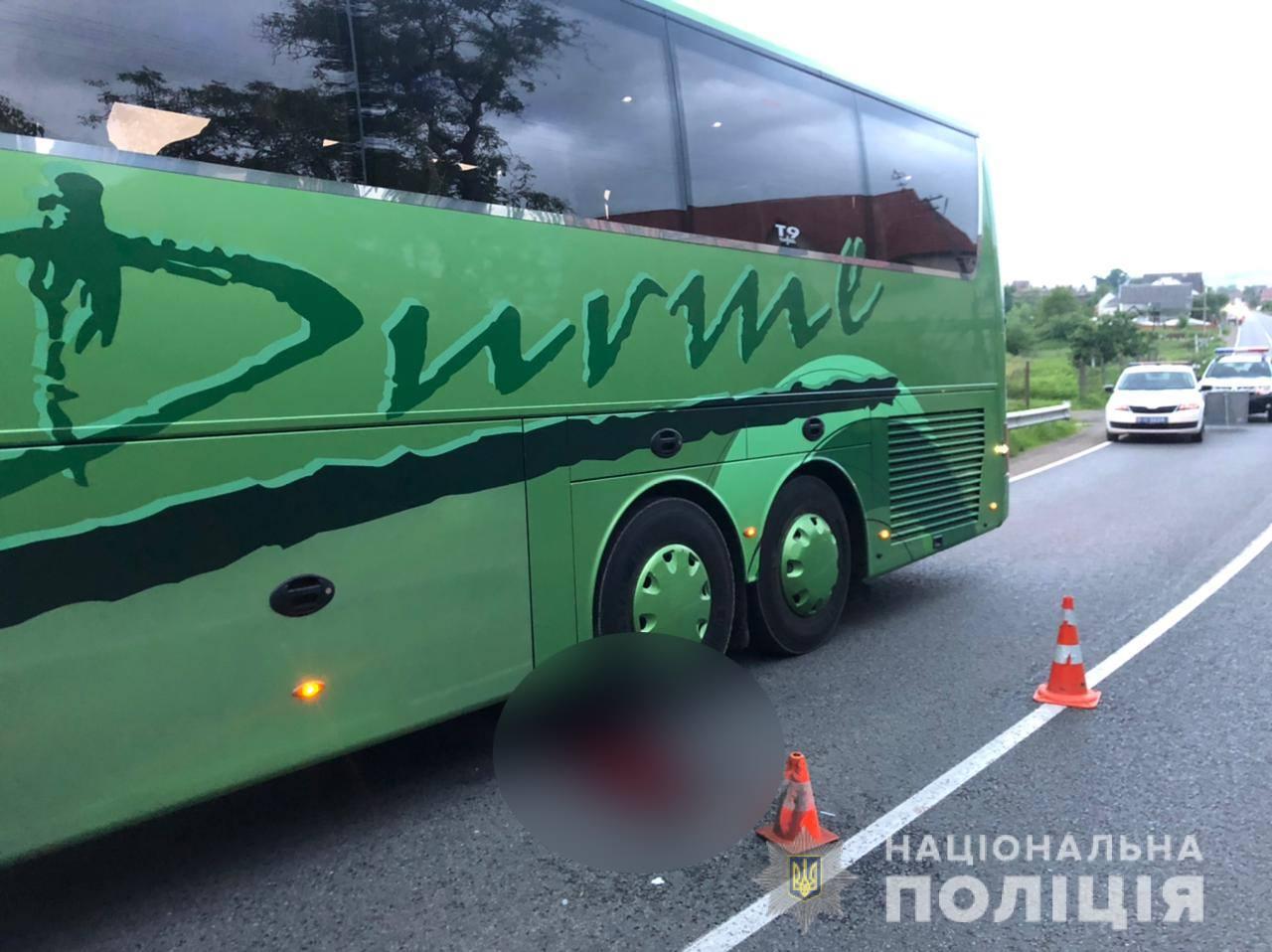 Поліцейські Берегівщини розслідують смертельну ДТП за участі рейсового автобуса .