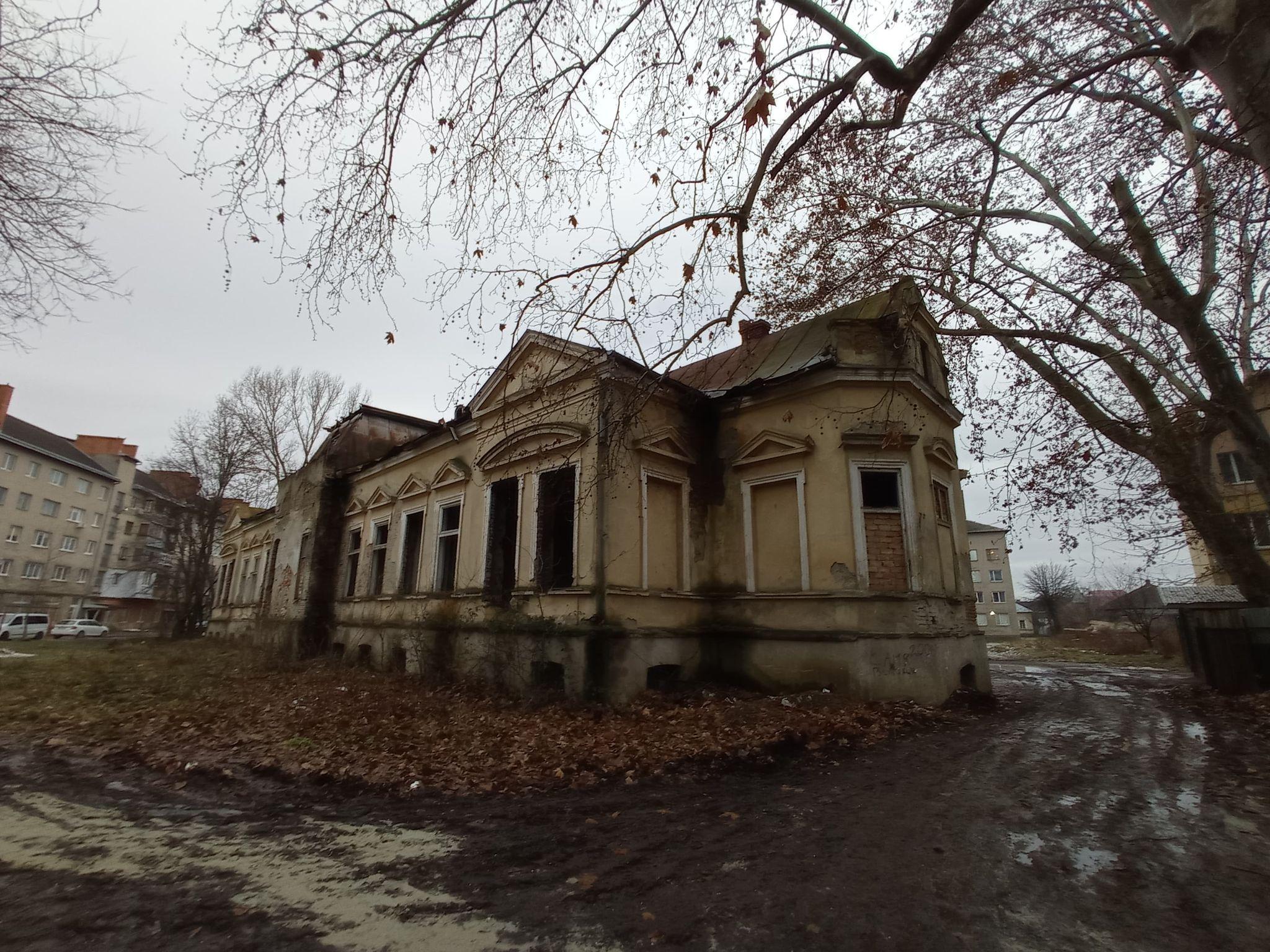 У зруйнованому палаці Ковнера, що в Мукачеві – дивний мурал під назвою