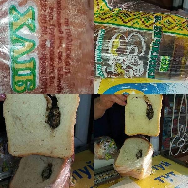 Соцмережі: закарпатець знайшов мертву мишу в хлібі (ФОТО)
