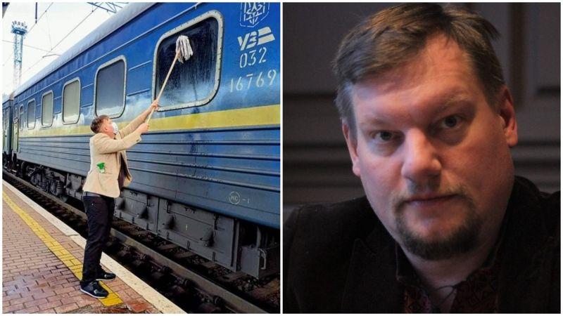 Журналіст з Данії просто хотів показати дітям усю красу України, а брудні вікна потяга стали на перешкоді.