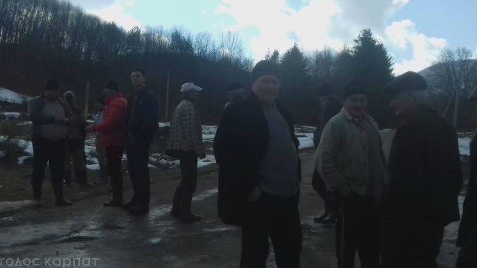 На Свалявщині люди протестують проти рубки лісу